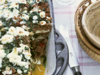 Lamb, Summer Squash and Feta Lasagna recipe