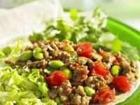 Lamb, Tomato and Bean Wraps recipe