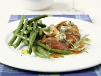 Lamb with Green Beans and Herbs recipe