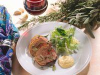 Lamb with Mayonaise Sauce and Salad