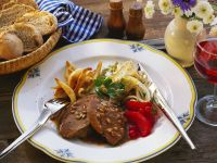 Lamb with Potato Dumplings and Red Apples recipe