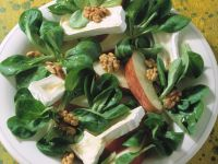 Lamb's Lettuce Salad with Camembert and Walnuts