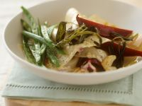 Lasagna with Green Beans, Beet and Sage recipe