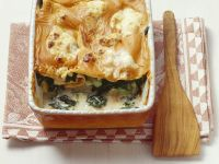 Lasagne with Arugula and Vegetables recipe