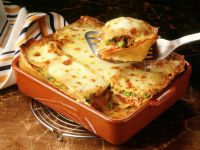 Lasagne with Meat Sauce and Peas