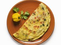 Latin-style Tomato and Pepper Omelette recipe