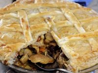 Lattice Pie with Rabbit and Mushroom recipe