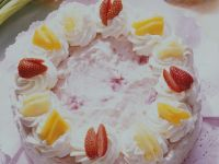 Layer Cake with Rice Pudding and Fruit recipe