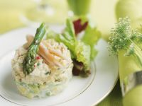 Layered Asparagus and Crab Salad recipe