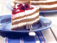 Layered Buckwheat Cake with Cherries recipe
