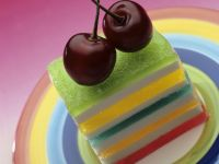 Layered Colorful Dessert Cubes recipe
