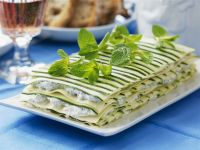 Layered Courgette and Cream Cheese Lasagne recipe