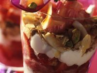 Layered Dessert with Ice Cream and Rhubarb recipe