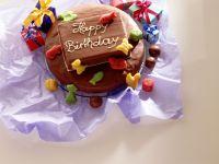 Layered Hazelnut and Marble Birthday Cake