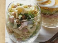 Layered Leek Salad with Ham recipe
