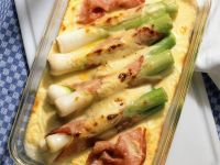 Leek and Ham Gratin recipe