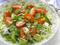 Leek Rice Salad with Tomato and Mint recipe