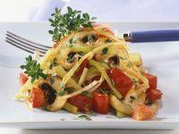 Leeks with Mushrooms and Vegetable recipe