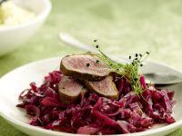 Leftover Beef Sliced over Soft Cabbage recipe