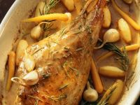 Roast Goat with Herbs and Veggies recipe
