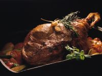 Leg of Lamb with Rosemary and Cherry Tomatoes recipe