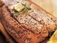 Lemon Cedar Plank Salmon Fillet recipe
