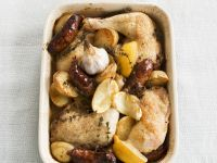 Lemon Chicken with Chorizo ​​and Garlic recipe