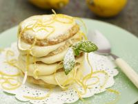 Lemon Cream Pancake Stack