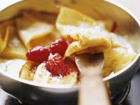 Lemon Crepes with Raspberries recipe