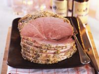 Lemon Crusted Cooked Ham recipe