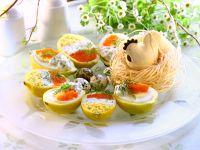 Lemon Halves Stuffed with Eggs recipe