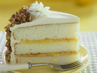 Lemon Layer Cake with Pistachios recipe