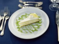 Lemon Layer Cheesecake with Lime Coulis recipe