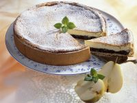 Lemon, Pear and Poppy Seed Cheesecake recipe