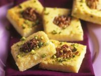 Lemon Semolina Cake with Walnuts and Pistachios recipe