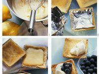 Lemon Tarts with Blueberries and Cream recipe