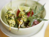 Lemongrass Chicken Skewers with Salad recipe
