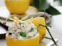 Lemons with Tuna Filling recipe
