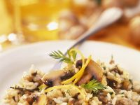Lemony Risotto with Porcini and Button Mushrooms recipe