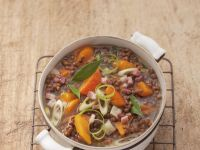 Lentil and Bacon Soup recipe