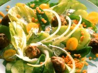 Lentil and Meatball Salad recipe