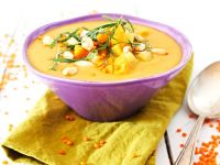 Lentil and Potato Soup with Peanuts recipe