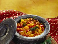 Lentil and Pumpkin Stew with Eggplant recipe