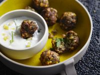 Lentil Balls with Yogurt Dip recipe