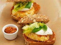 Lentil Burgers with Tapenade Spread recipe