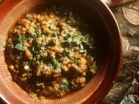Lentil Curry with Cilantro recipe