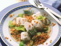 Lentil Salad with Cod recipe