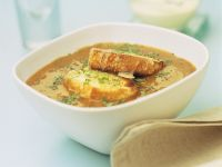 Lentil Soup with Croutons recipe