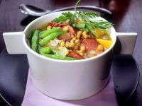 Lentil Soup with Pumpkin and Green Beans recipe
