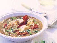 Lentil Soup with Rabbit Loin recipe